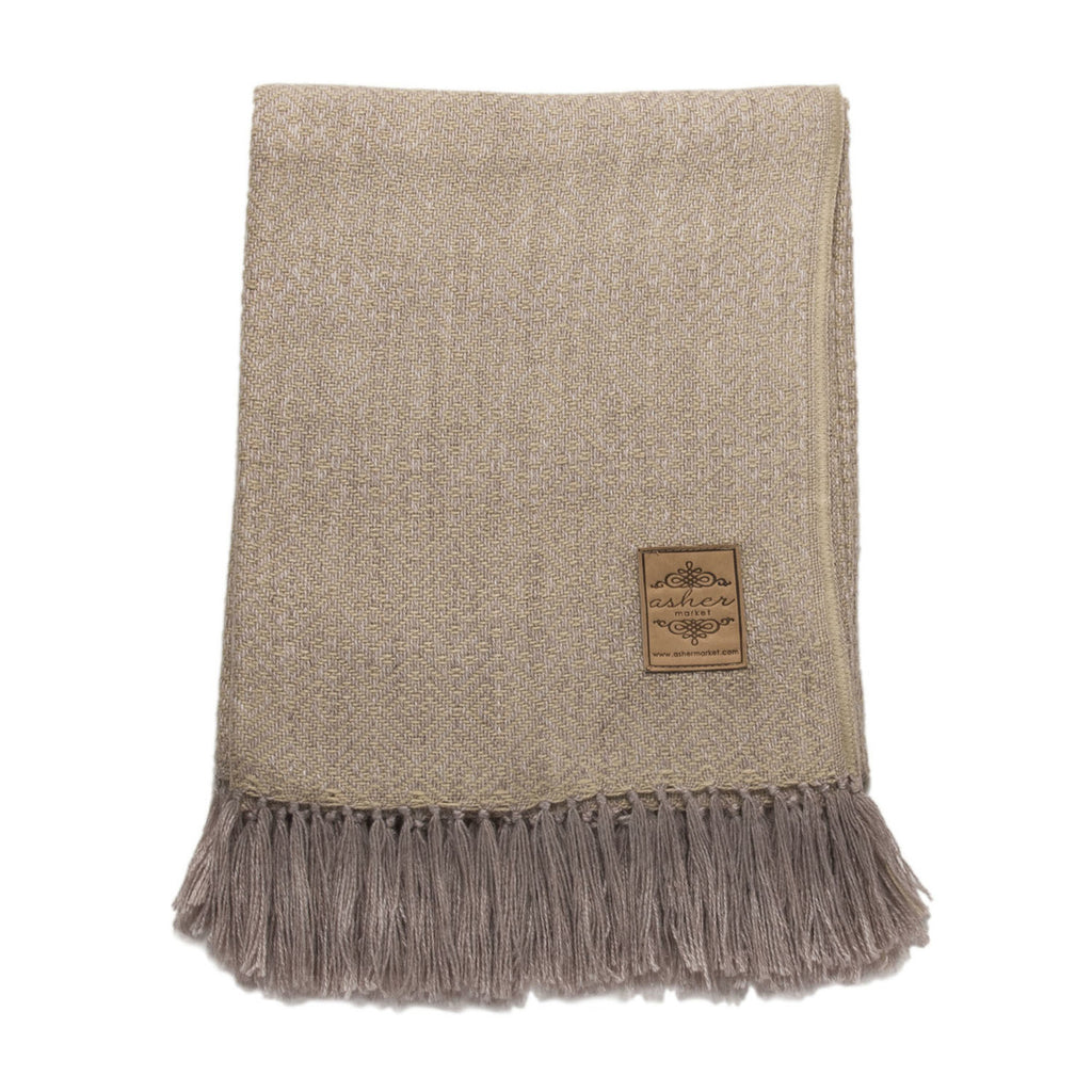 Chamomile Alpaca Blend Throw-Asher Market soft, cozy and machine washable