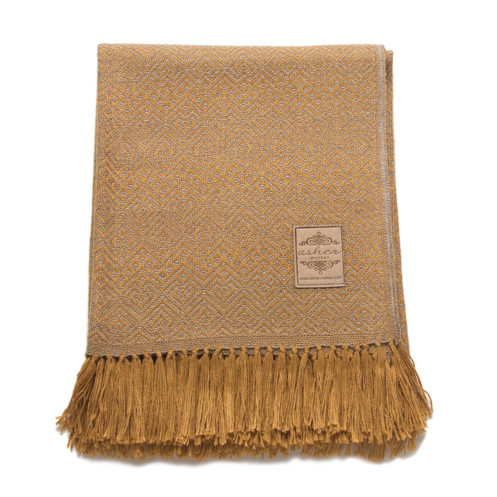 Honeycomb Alpaca Blend Throw-Asher Market soft, cozy and machine washable