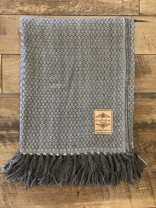 Earl Grey Alpaca Blend Throw-Asher Market soft, cozy and machine washable