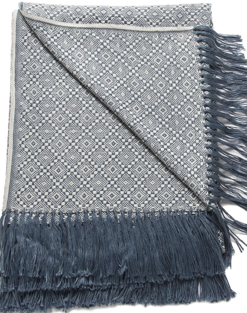 Pacific Blue Alpaca Blend Throw-Asher Market soft, cozy and machine washable