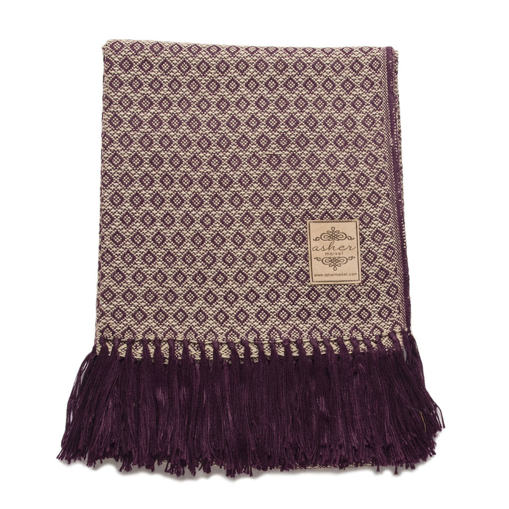 Plum Alpaca Blend Throw-Asher Market soft, cozy and machine washable