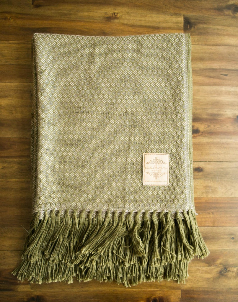 Provence Alpaca Blend Throw-Asher Market soft, cozy and machine washable