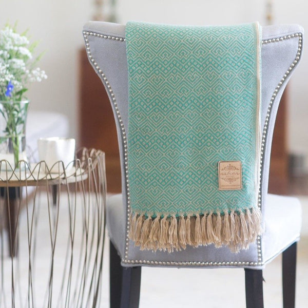 Seafoam Alpaca Blend Throw-Asher Market soft, cozy and machine washable