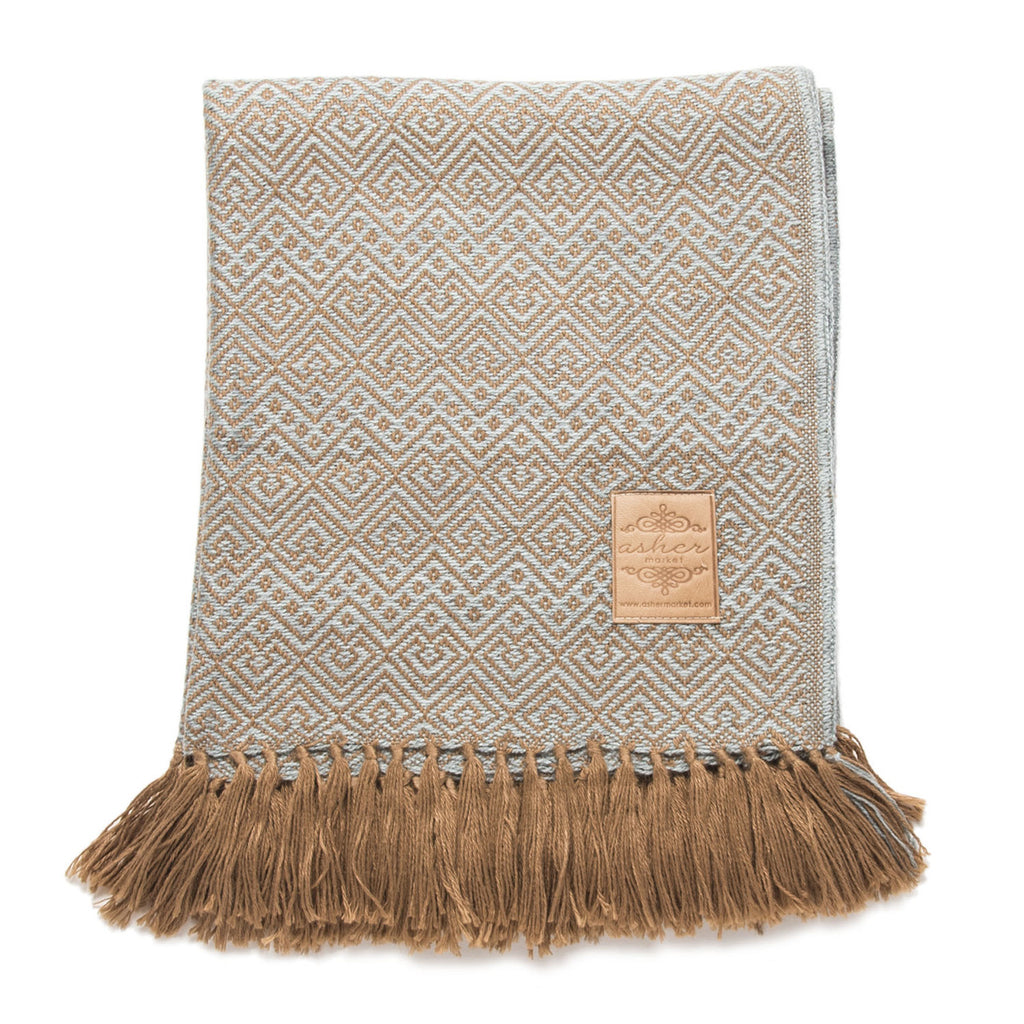 Winter's Eve Alpaca Blend Throw-Asher Market soft, cozy and machine washable