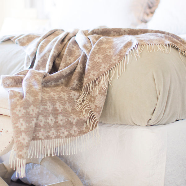 Inca Cross 100% Baby Alpaca Throw-Asher Market soft, cozy with classic every day style