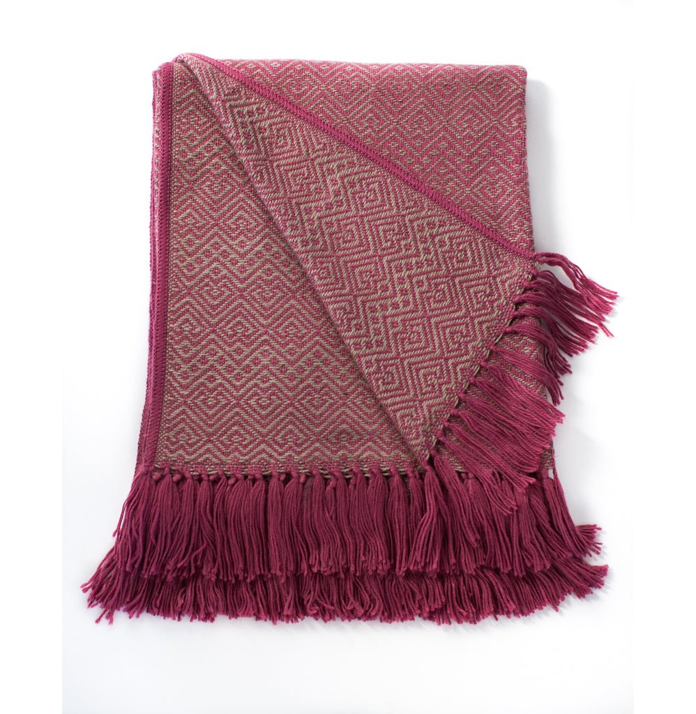 Native Rose Alpaca Blend Throw-Asher Market soft, cozy and machine washable