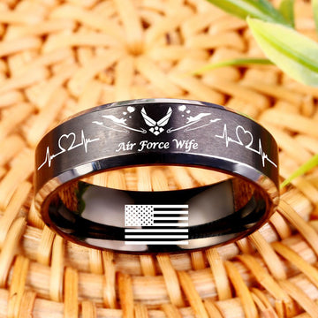 Today 60% Off 😍 Free Bracelet w/Purch Airforce Wife Titanium Ring ⭐️⭐️⭐️⭐️⭐️Reviews freeshipping - TheRisenEagle