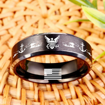 Today 60% Off 😍 Free Bracelet w/Purch Navy Titanium Ring ⭐️⭐️⭐️⭐️⭐️Reviews