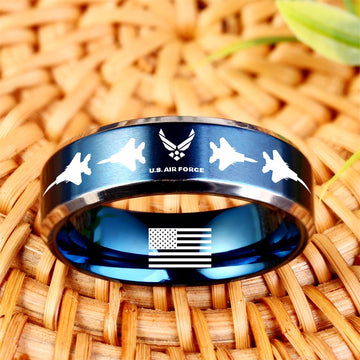 Today 60% Off 😍 Free Bracelet w/Purch Airforce Titanium Ring ⭐️⭐️⭐️⭐️⭐️Reviews freeshipping - TheRisenEagle