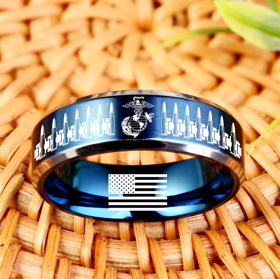 Today 60% Off 😍 Free Bracelet w/Purch Marine Bullets Titanium Ring ⭐️⭐️⭐️⭐️⭐️Reviews freeshipping - TheRisenEagle