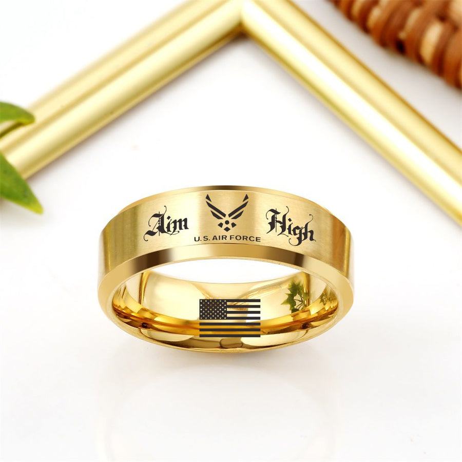 Today 60% Off 😍 Free Bracelet w/Purch Aim High Titanium Ring ⭐️⭐️⭐️⭐️⭐️Reviews freeshipping - TheRisenEagle