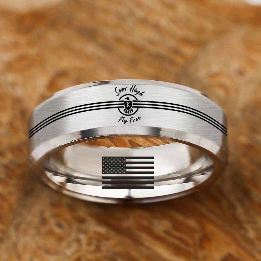 The Risen Eagle Titainium Ring