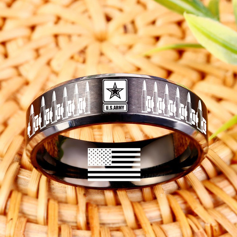 Today 60% Off 😍 Free Bracelet w/Purch Army Ring of Bullets Titanium Ring ⭐️⭐️⭐️⭐️⭐️Reviews freeshipping - TheRisenEagle