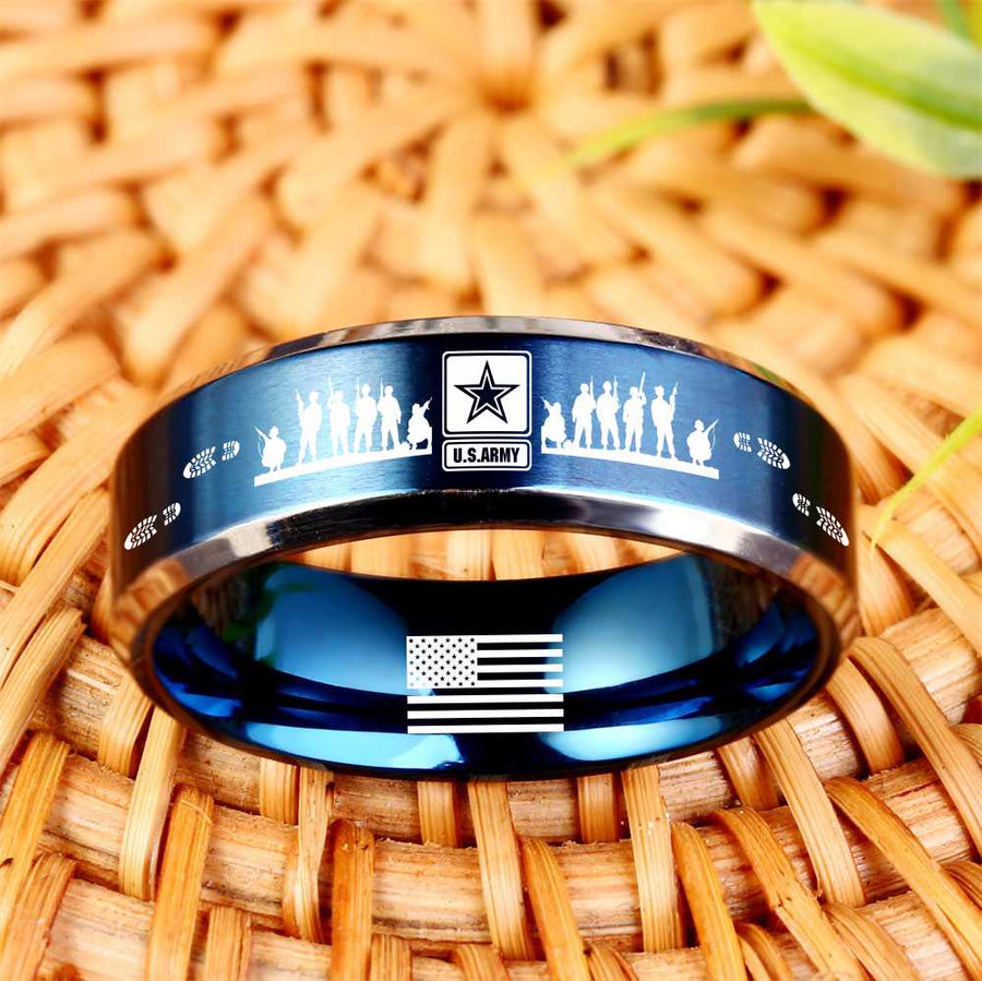 Today 60% Off 😍 Free Bracelet w/Purch Army Titanium Ring ⭐️⭐️⭐️⭐️⭐️Reviews freeshipping - TheRisenEagle