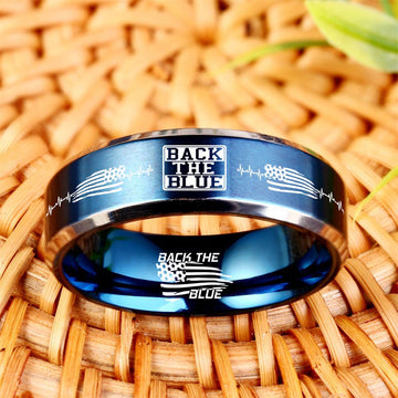 Today 60% Off 😍 Free Bracelet w/Purch Back The Blue Titanium Ring ⭐️⭐️⭐️⭐️⭐️Reviews freeshipping - TheRisenEagle