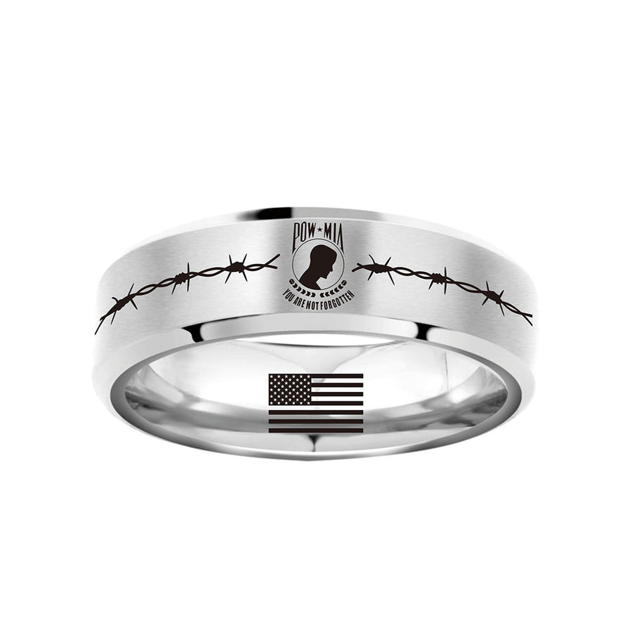 Today 70% Off POW*MIA Tribute Titanium Ring ⭐️⭐️⭐️⭐️⭐️Reviews freeshipping - TheRisenEagle