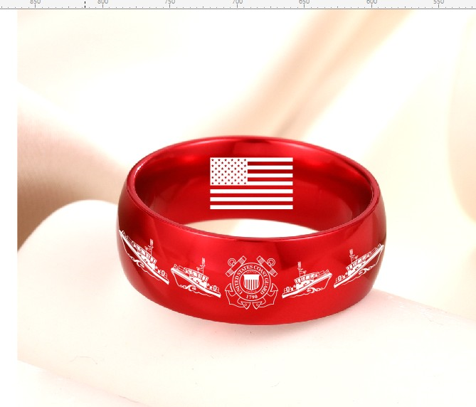 Today 70% Off 😍 Military Red Aircraft Grade Aluminum Alloy Rings Choose From 8 styles!! freeshipping - TheRisenEagle