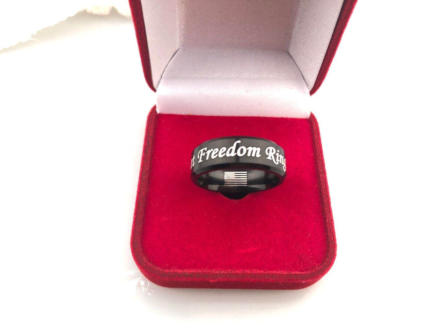 Let Freedom Ring! Titanium Ring freeshipping - TheRisenEagle
