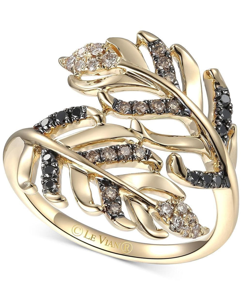 Le Vian Heavenly Feathers® Diamond Bypass Ring (1/3 ct. t.w.) in 14k Gold (5303083696283)