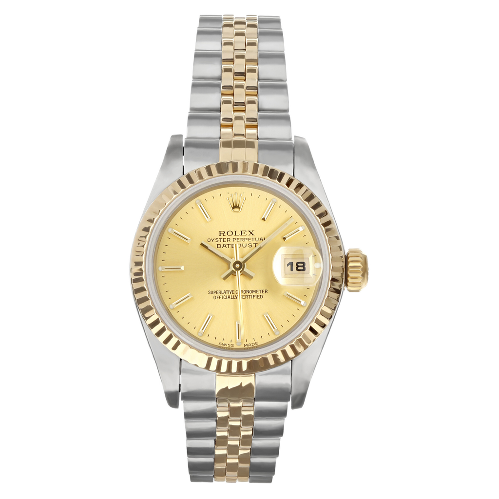 Ladies Pre-owned Rolex Two Tone Datejust 26 - Champagne Dial (5304465752219)