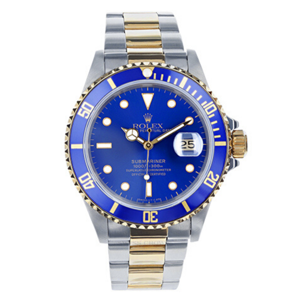 Mens Pre-owned Rolex Two Tone Submariner 40 - Blue Dial (5304465555611)