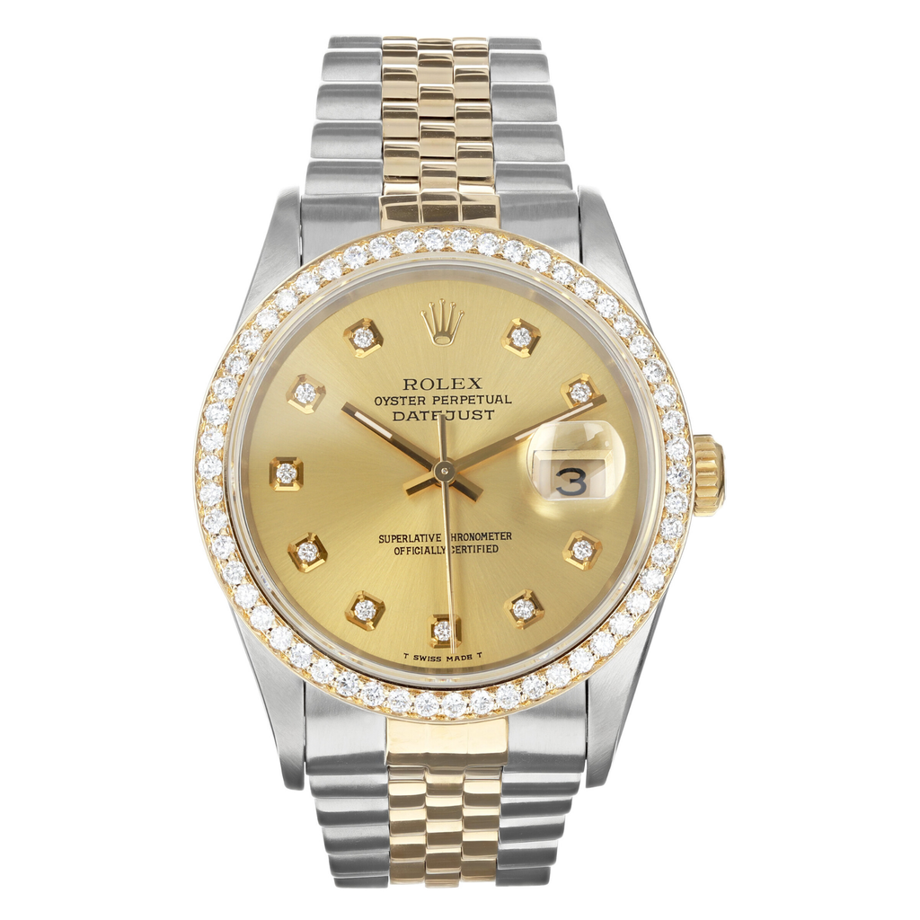 Mens Pre-owned Rolex Two Tone Datejust 36 - Champagne Dial (5304465260699)