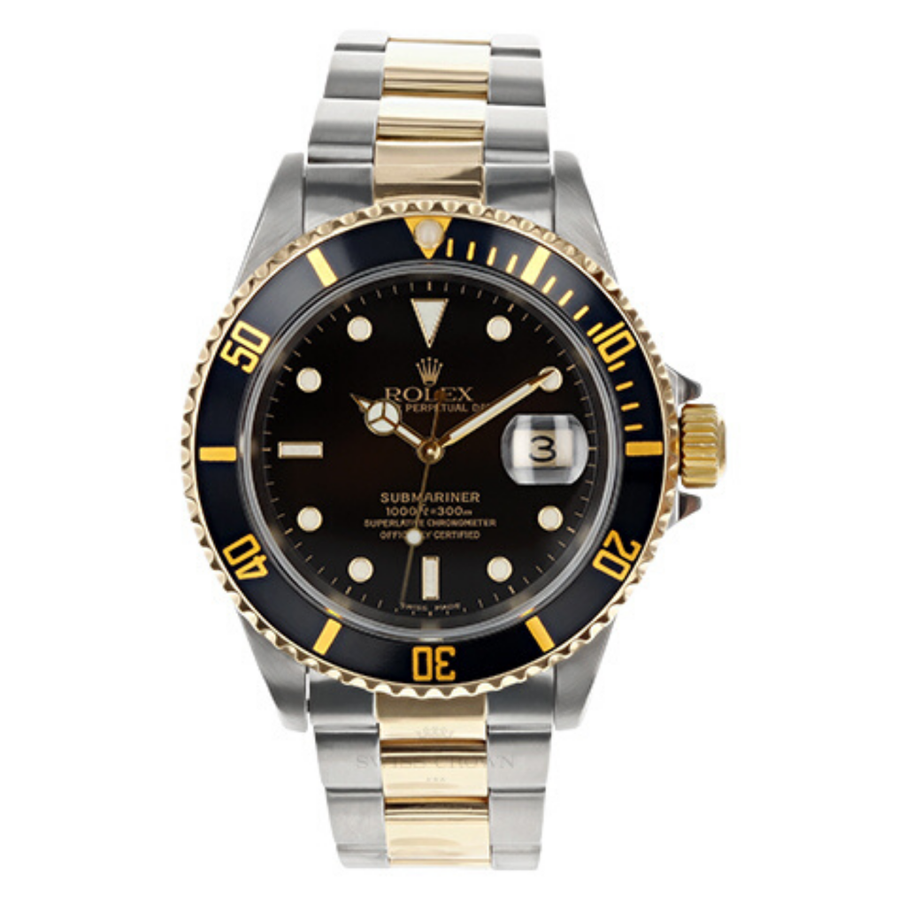 Mens Pre-owned Rolex Two Tone Submariner 40 - Black Dial (5304465490075)
