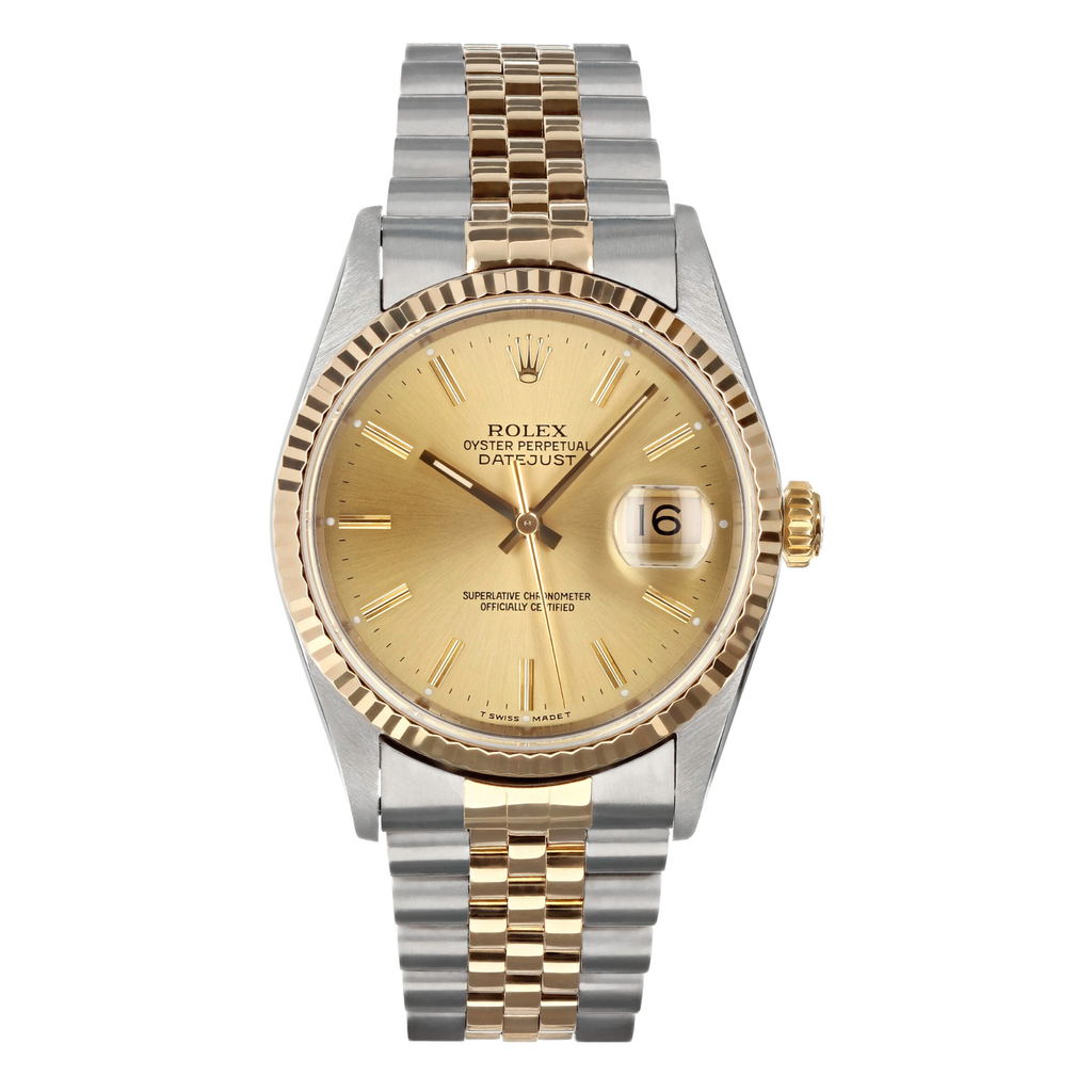 Mens Pre-owned Rolex Two Tone Datejust 36 - Champagne Dial (5304465129627)