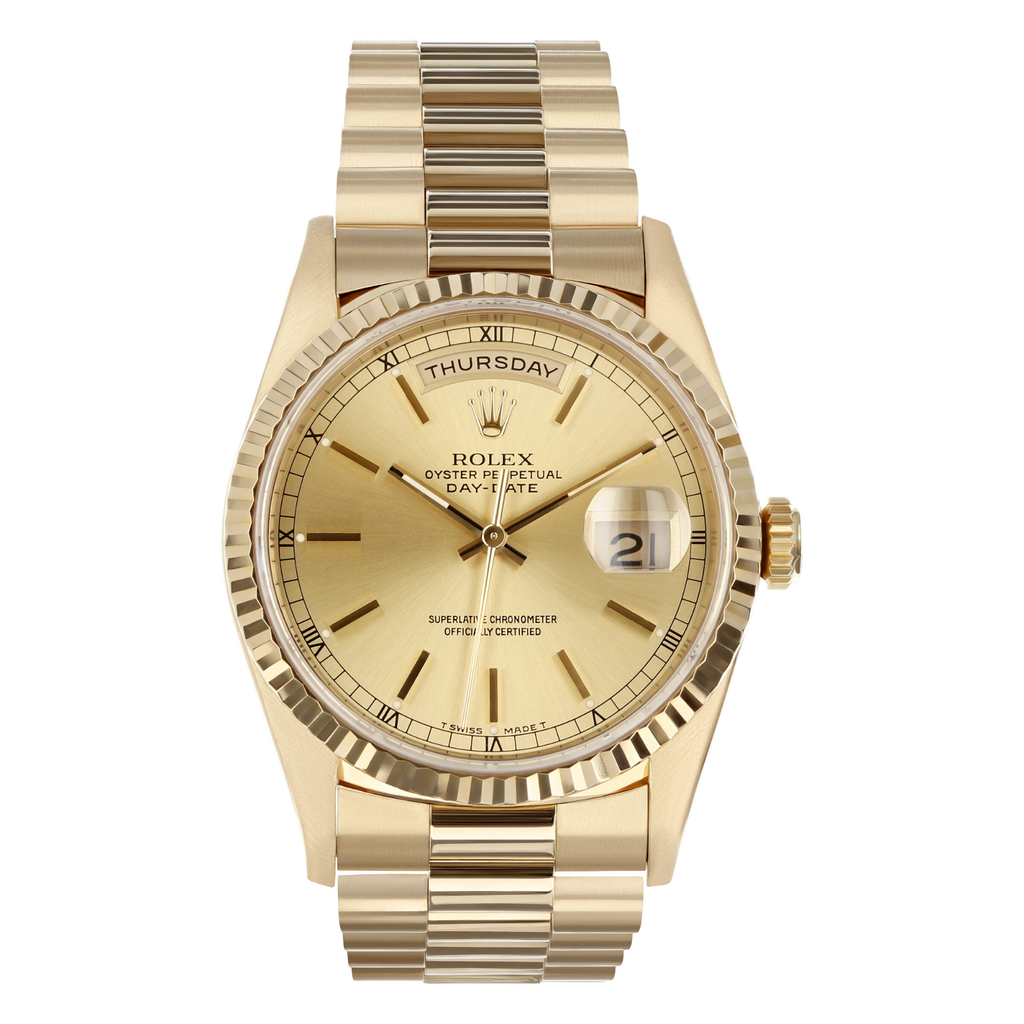 Mens Pre-owned Rolex Day-Date 36 - Champagne Dial (5304465359003)