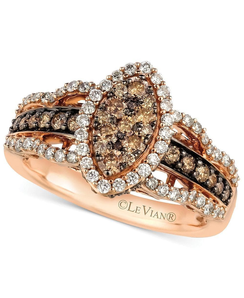 Le Vian White and Chocolate Diamond Ring in 14k Rose Gold (1-1/4 ct. t.w.) (5303083827355)