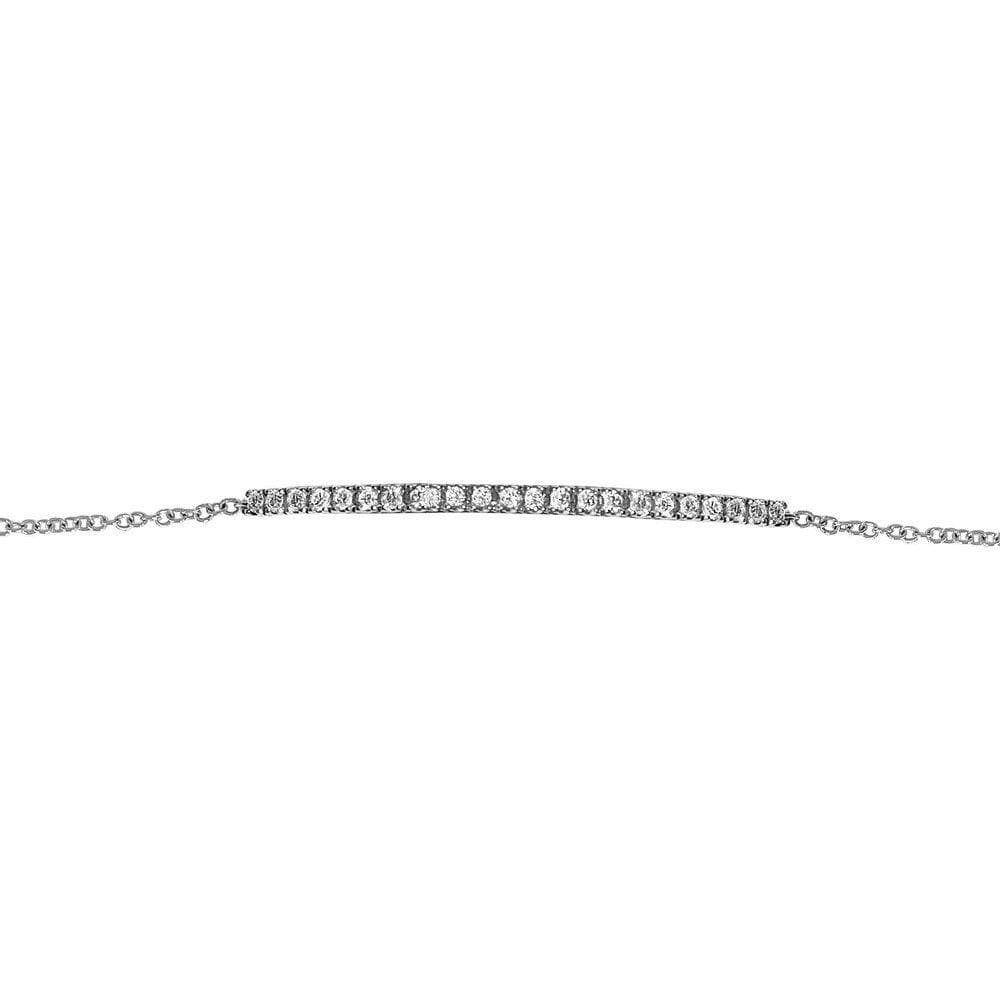 Matthia's & Claire Arc Bracelet with White Diamonds (5383513833627)