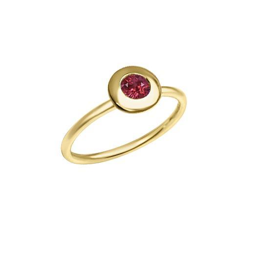Matthia's & Claire Gemstone Ring with Garnet (5383514783899)