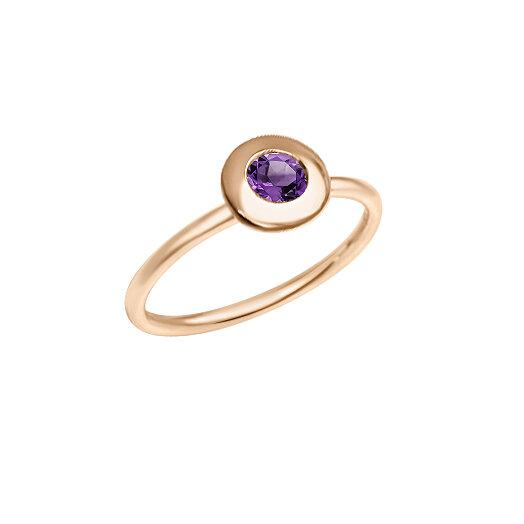 Matthia's & Claire Gemstone Ring with Amethyst (5383495975067)
