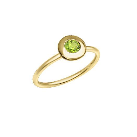 Matthia's & Claire Gemstone Ring with Peridot (5383496564891)