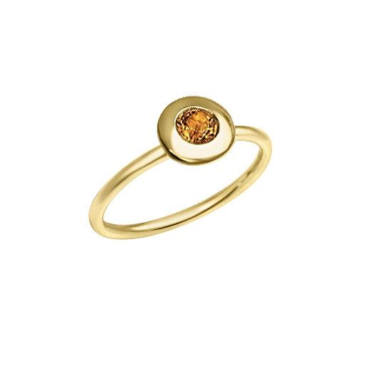 Matthia's & Claire Gemstone Ring with Citrine (5383496859803)