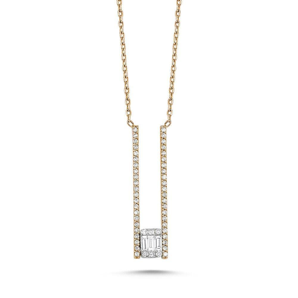 Own Your Story Suspended Illusion Necklace with Diamonds (5358077444251)