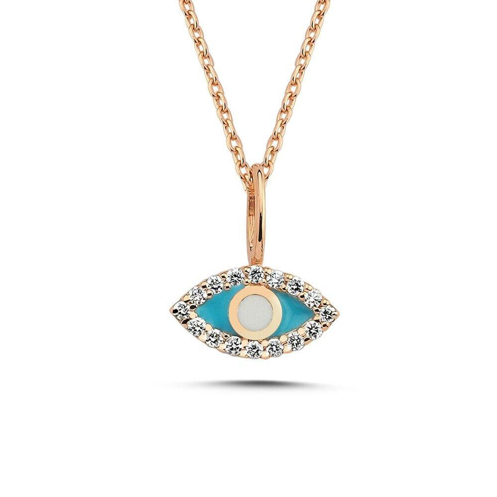 OWN Your Story 14K Gold Diamond Enamel Evil Eye Pendant (5358081048731)