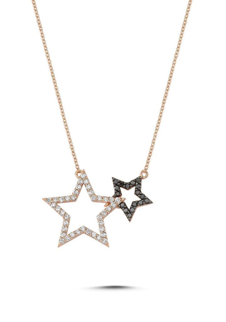 Own Your Story Two-Star Black and White Diamond Pendant (5358079246491)