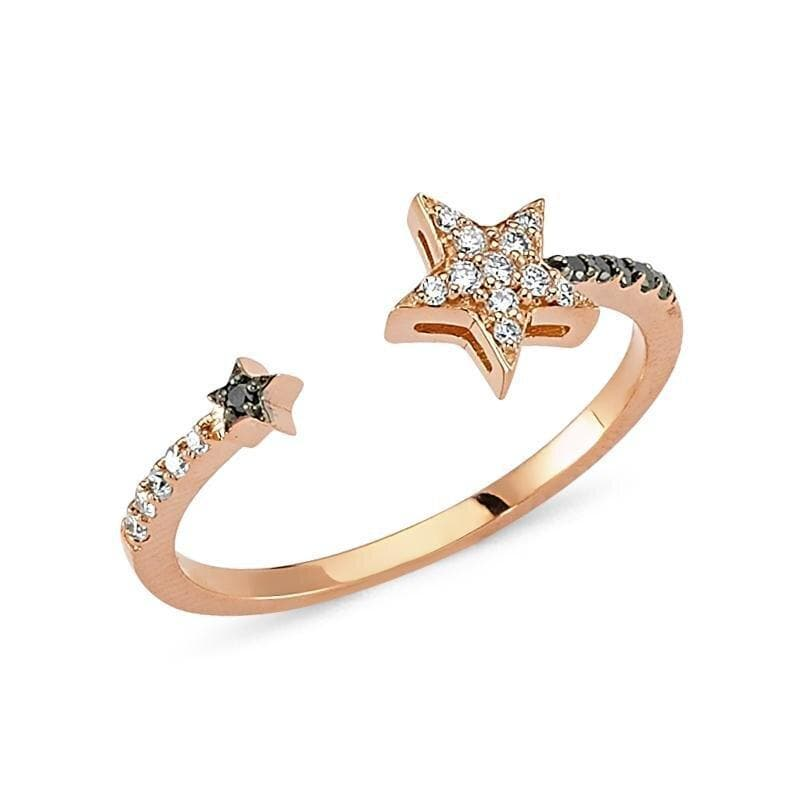 Own Your Story Open Star Ring with Diamonds (5358083178651)