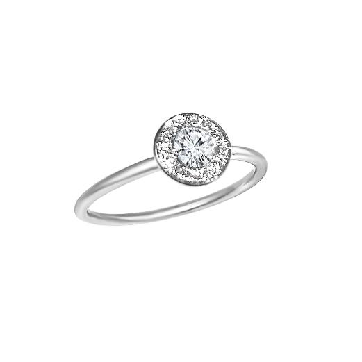 Matthia's & Claire Diamond Ring With Diamond Pave (5383511015579)