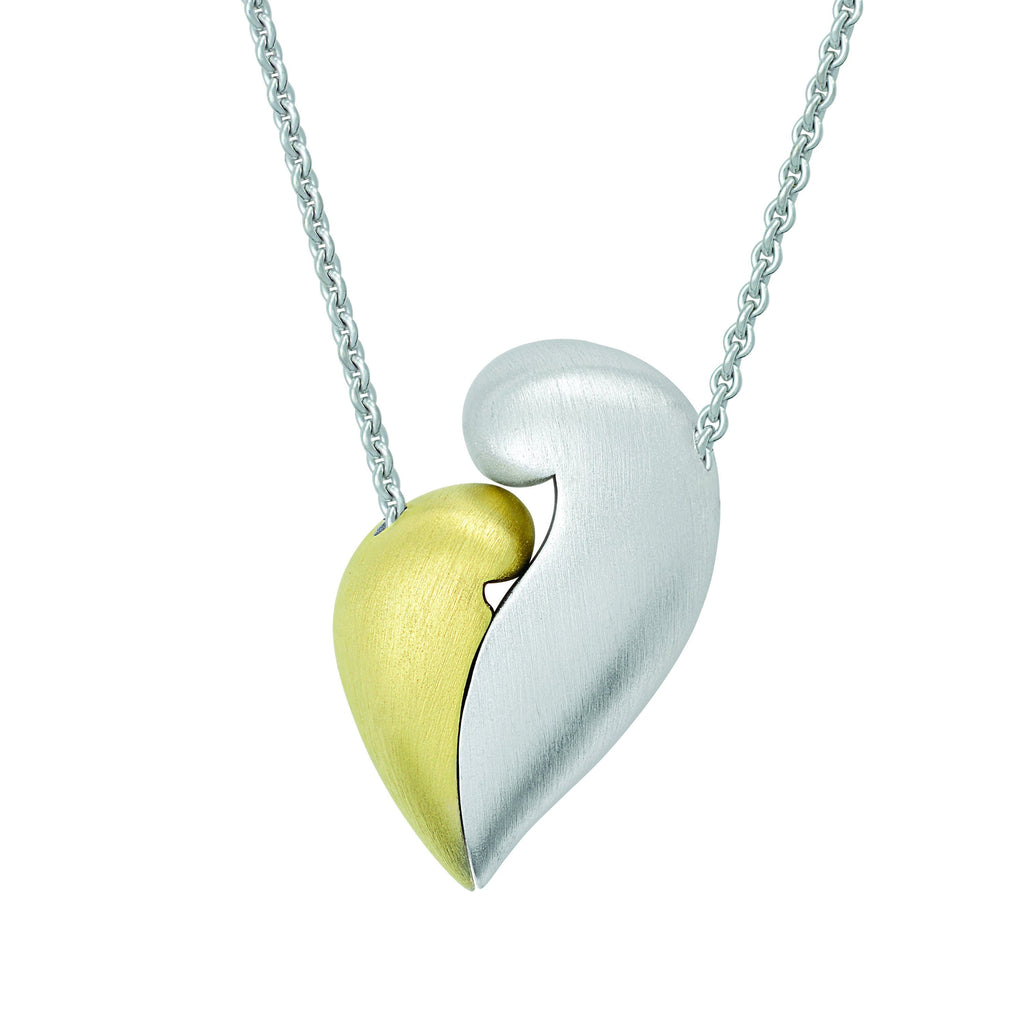 "PETRA AZAR ""NO GREATER LOVE"" TWO-TONE STERLING SILVER AND GOLD-PLATED NECKLACE (4997414551596)"