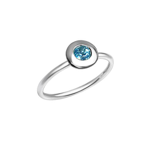 Matthia's & Claire Gemstone Ring with Blue Topaz (5383514554523)
