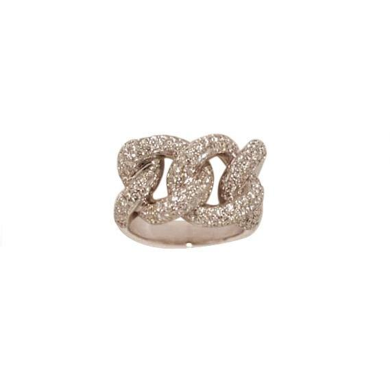 Matthia's & Claire Precious Diamond Links Ring (5383508426907)