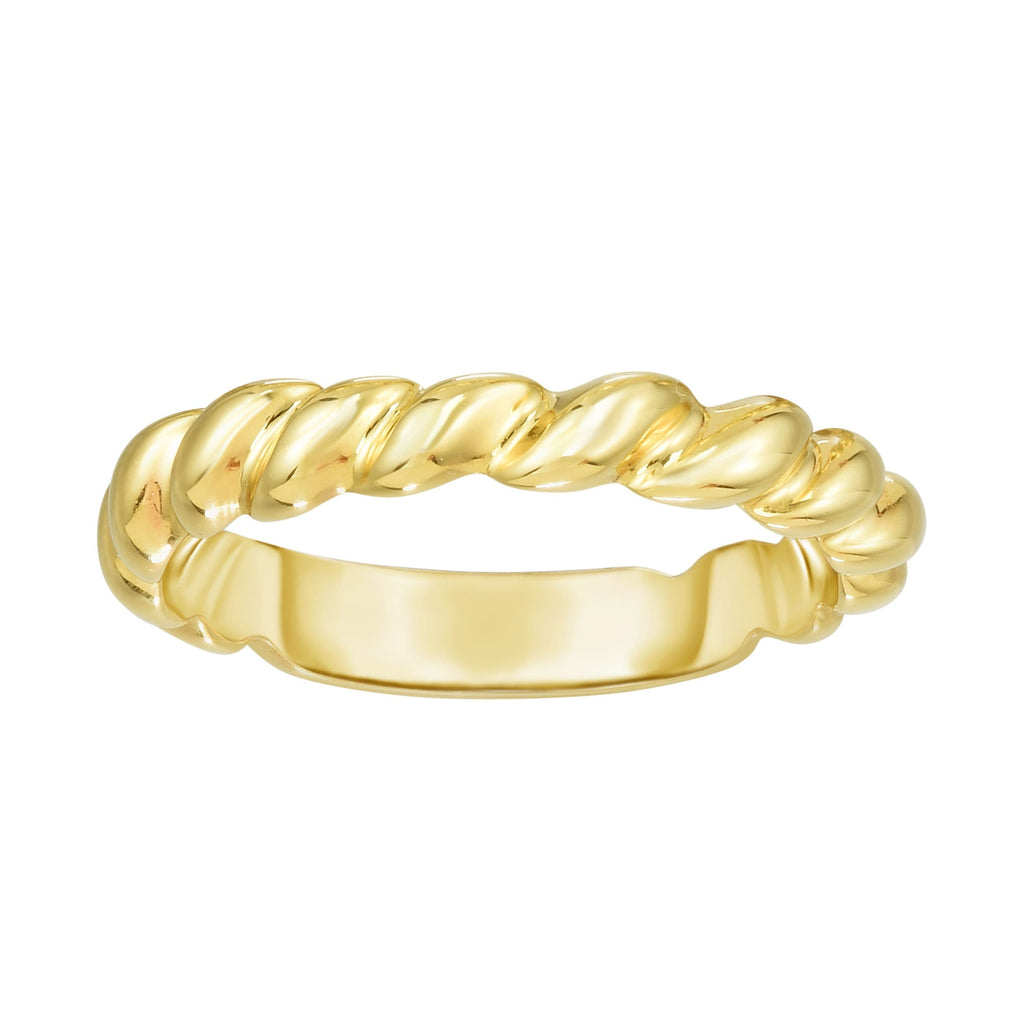 14kt Gold Size-7 Yellow Finish 3.7x21x1.5mm Polished Ring (5688345788571)
