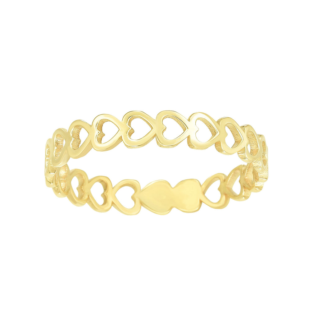 14kt Gold Size-7 Yellow Finish Band Ring (5688345723035)