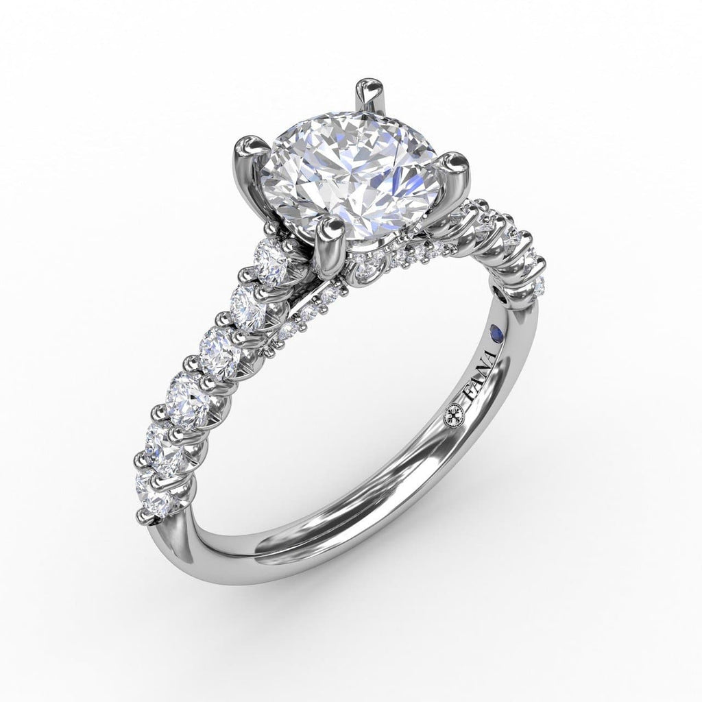 Contemporary Diamond Solitaire Engagement Ring With Hidden Halo (5552772546715)