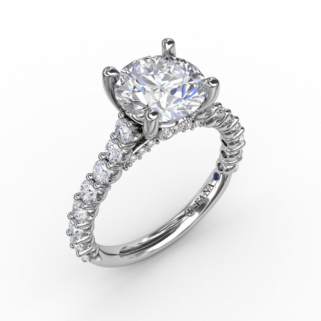 Contemporary Diamond Solitaire Engagement Ring With Hidden Halo (5552772972699)