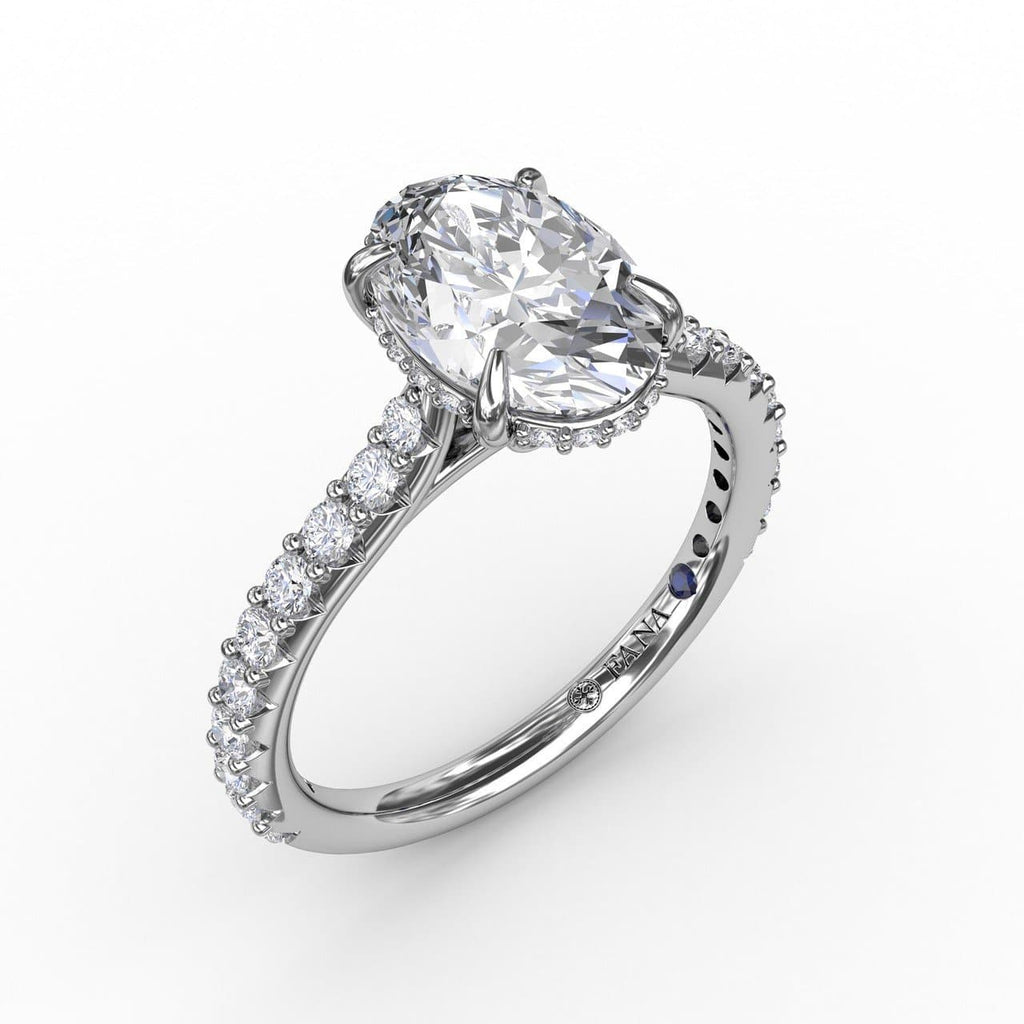 Classic Oval Diamond Solitaire Engagement Ring With Hidden Pavé Halo (5552774316187)