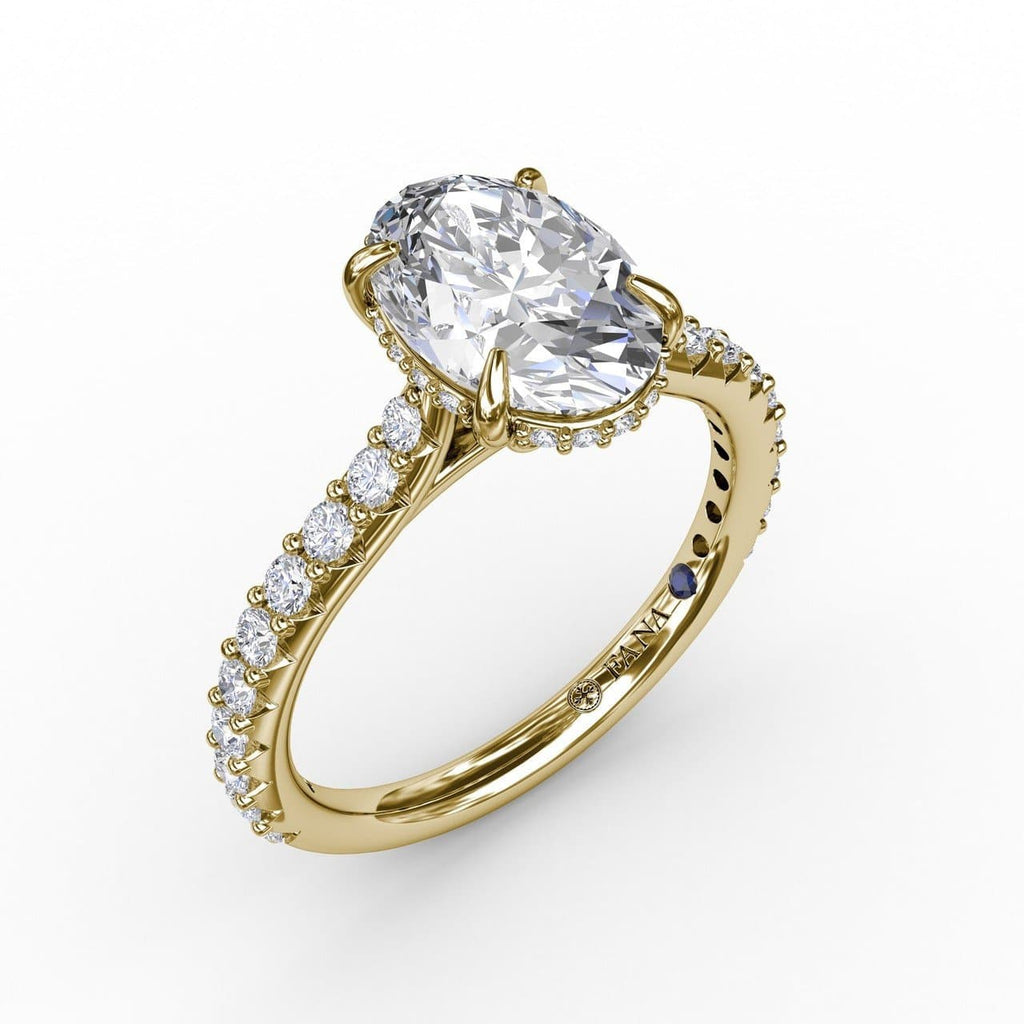 Classic Oval Diamond Solitaire Engagement Ring With Hidden Pavé Halo (5552784277659)