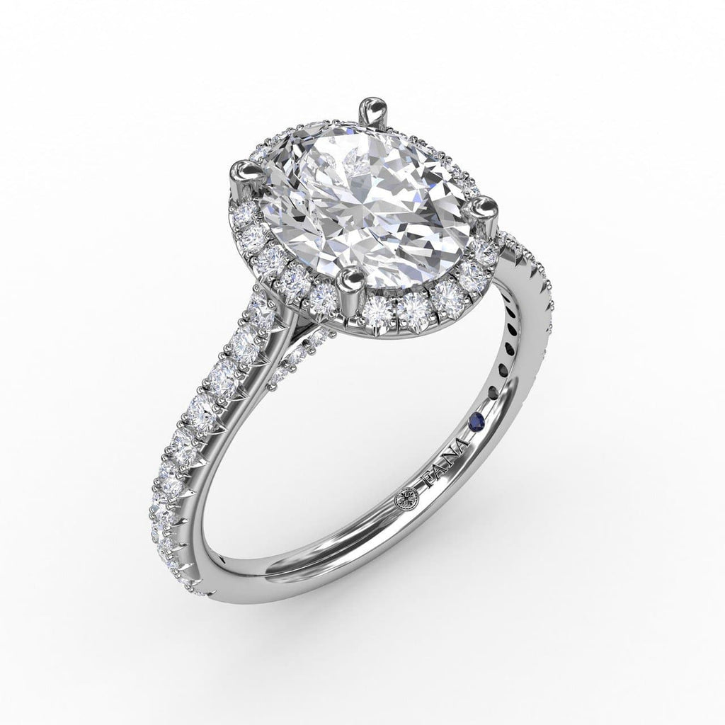 Oval Diamond Halo Engagement Ring With Diamond Band (5552781951131)